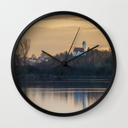 Nature lake and view to St.Martins Church Wall Clock