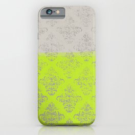 Layers Damask Lime iPhone Case