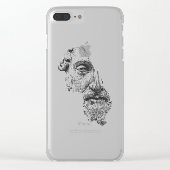 MARCUS AURELIUS ANTONINUS AUGUSTUS / black / white Clear iPhone Case
