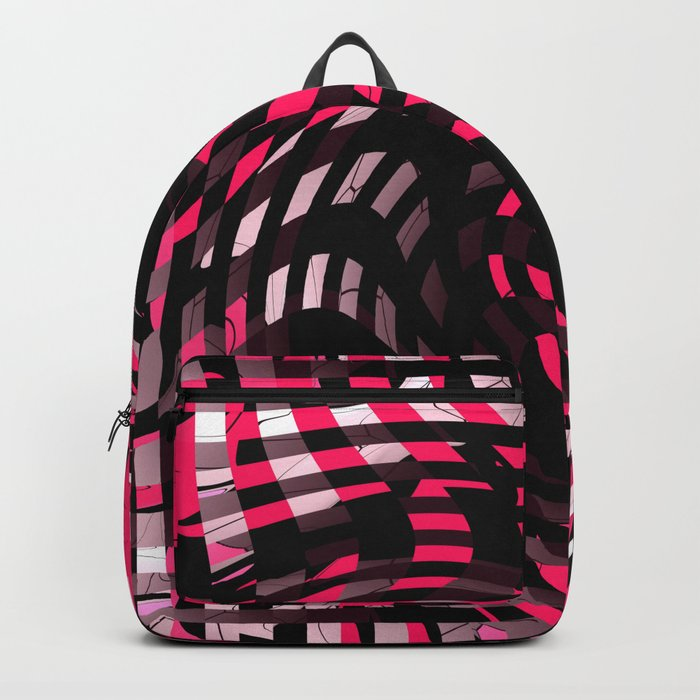 Abstract Graphic Pink Neon Backpack
