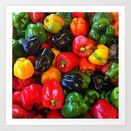 Colorful Bell Peppers Art Print