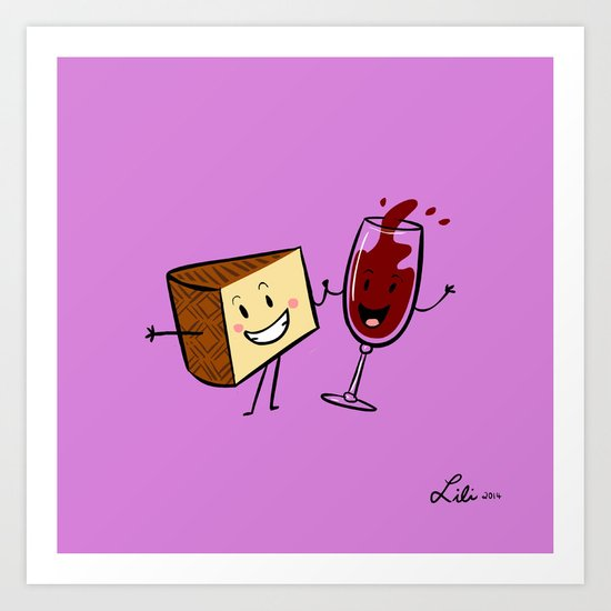 Manchego & Red Wine Art Print
