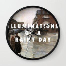 Reckless Rain Wall Clock