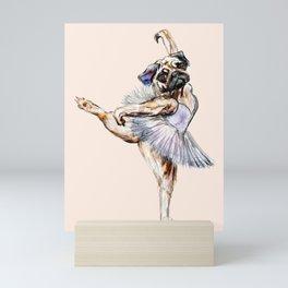 Pug Ballerina in Dog Ballet | Swan Lake  Mini Art Print