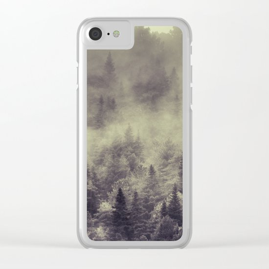 """Into the woods"" Love the forests Clear iPhone Case"