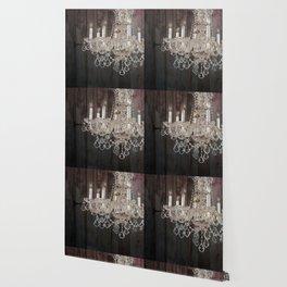 rustic barn wood western country chandelier Wallpaper