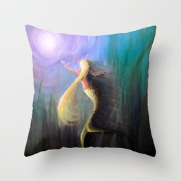 The Orb of Violet Light Throw Pillow