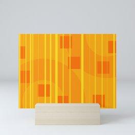 Stripes - Geometry Design Yellow Mini Art Print