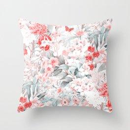 Vintage & Shabby Chic - Blush Flower Meadow Garden Throw Pillow