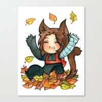 bucky Canvas Prints featuring fall - bucky by cynamon