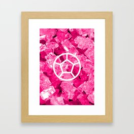 Rose Quartz Candy Gem Framed Art Print