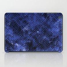 Bright Blue Imprinted Metal Look iPad Case