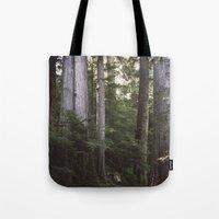giants Tote Bags featuring Among Giants by Frances Dierken