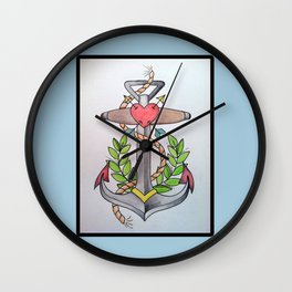 Traditional Anchor Wall Clock