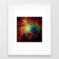 nebula Framed Art Prints featuring Orion NEBula  : Colorful Galaxy by 2sweet4words Designs