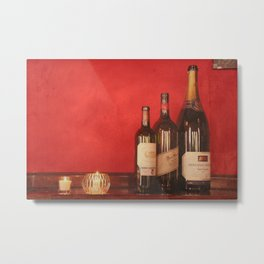 Wine on the Wall Metal Print