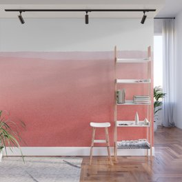 Minimal Pink Abstract 02 Landscape Wall Mural