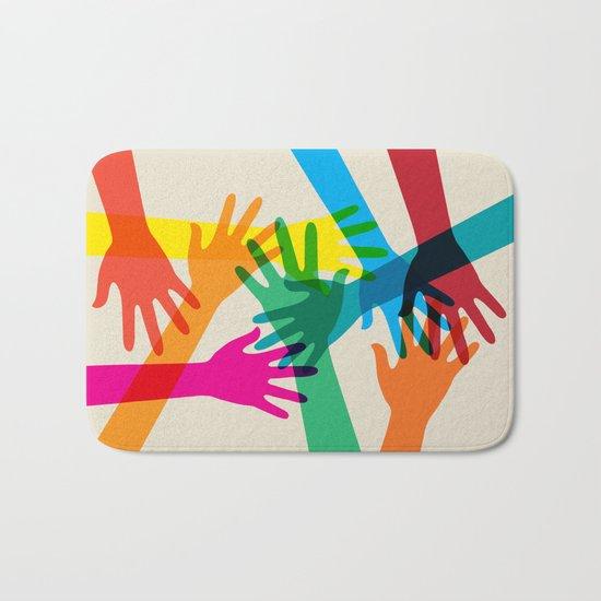Hands #001 Bath Mat