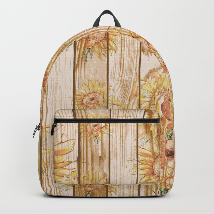 Vintage Sunflowers #9 Backpack