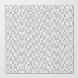 Stitch Weave Geometric Pattern in Grey Canvas Print