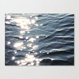 Sunlight on Ocean Water Waves Canvas Print
