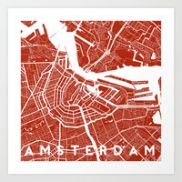 amsterdam Art Prints featuring Amsterdam. by Studio Tesouro