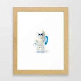 White Yeti Minifig eating an icecream Framed Art Print