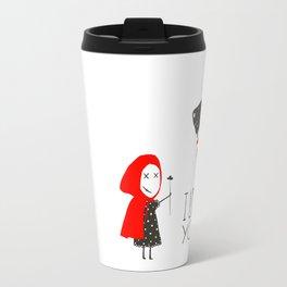 Little Red Riding Hood Loves Black Wolf Travel Mug