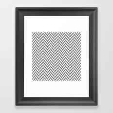 Grey Herringbone Framed Art Print