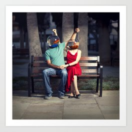 """""""We are Meant For each other""""- By Ronen Goldman Art Print"""