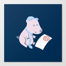 That'll Do Pig. Canvas Print