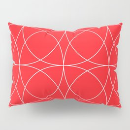 Lipstick Red Concentric Circles Rogue Sophisticate Pattern Pillow Sham