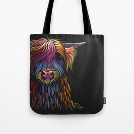 Scottish Highland Cow ' FLoWER PoT ' by Shirley MacArthur Tote Bag