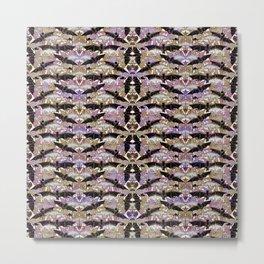 Art Nouveau Bats Lavender Pattern Metal Print