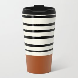 Burnt Orange x Stripes Travel Mug