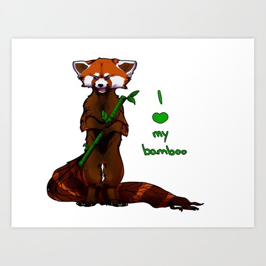 I love my bamboo (tablet) Art Print