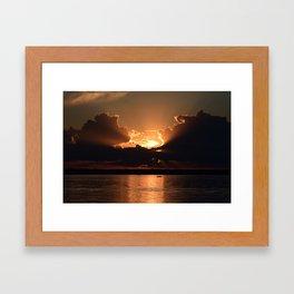 Fisherman Sunset Framed Art Print