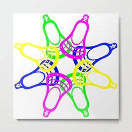 Lacrosse Neon Heads Metal Print