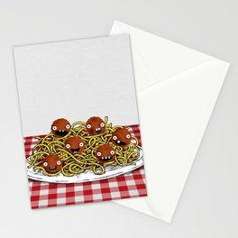 Spaghetti + Meatballs Stationery Cards