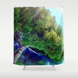 Shade Above The Pool Shower Curtain