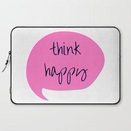 THINK HAPPY PINK BUBBLE Laptop Sleeve