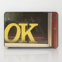 kim sy ok iPad Cases featuring OK by Michelle & Chris Gerard