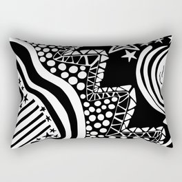 Soul Of The Dream Desert - Star Gazer (Black and White Edition) Rectangular Pillow