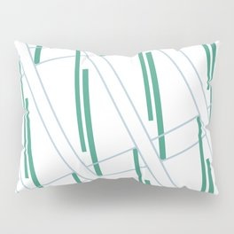 Geometric work - blue and green lines Pillow Sham