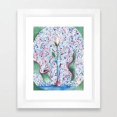 Abstract Rose Framed Art Print