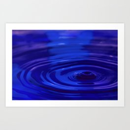 Sad - Emotions Water Drop Photography Art Print
