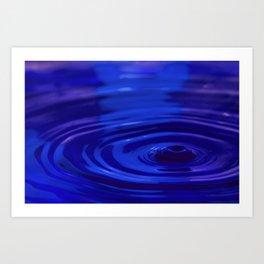 Sad - Emotions Water Drop Photography Art Print