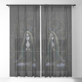 Earth Witch - Elements Collection Sheer Curtain