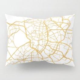 MADRID SPAIN CITY STREET MAP ART Pillow Sham