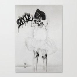 Bad Ballerina Canvas Print